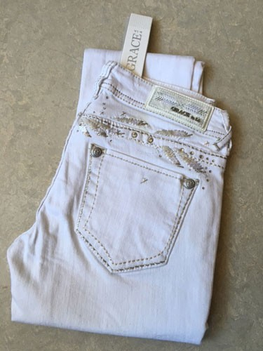 "Jeans ""Grace NW-9130-WT"""