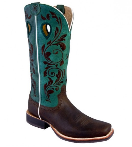 Cowboystiefel Twisted X Women's Ruff Stock türkis