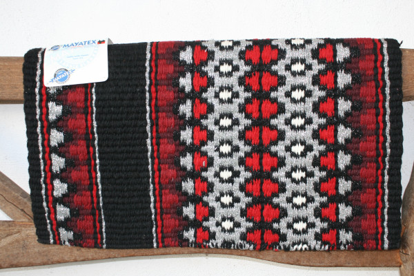 ShowBlanket * STARLIGHT * schwarz-rot-silberfarben