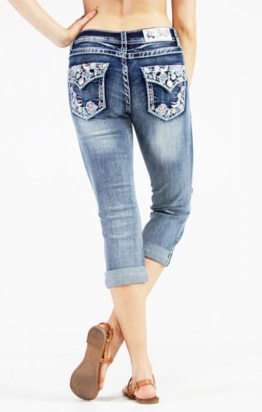 Capri Jeans aufwendig verziert