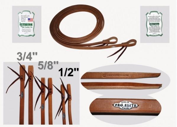 Harness Zügel in Premium Qualität mit schwere Enden