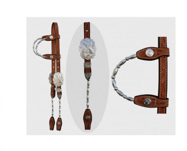 Show Kopfstück - Doppeleinohr - SILBER - Roller Pipe Side's & Ear's