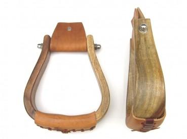 Holzsteigbügel für Westernsattel zwei Farb-Varianten