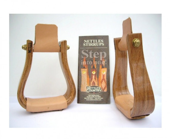 Holzsteigbügel DELUXE Design Oak-Varnished