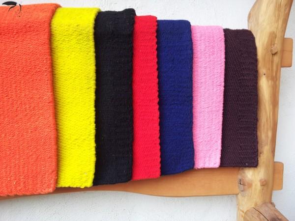 Sattel Blanket verschiedene Farben uni