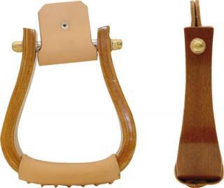 Holzsteigbügel für Westernsattel WALNUT