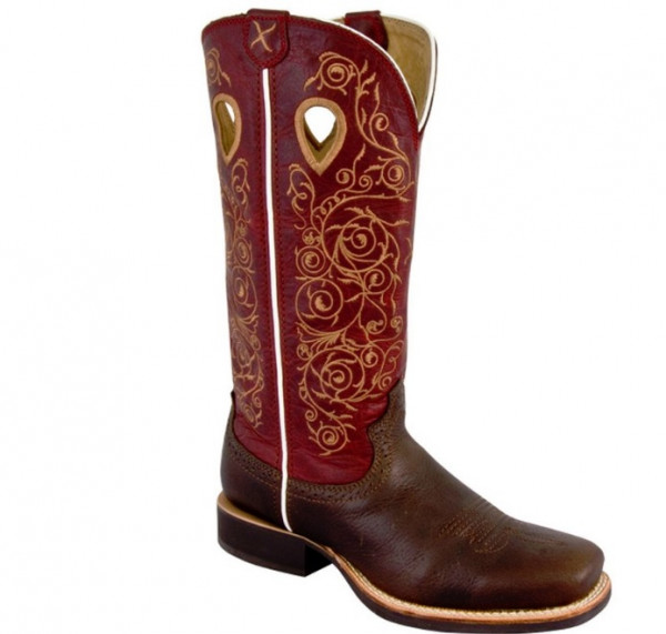 Western Stiefel Twisted X Women's Ruff Stock red