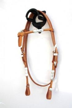 Kopfstück Futurity Stirnband Leder rund vernäht